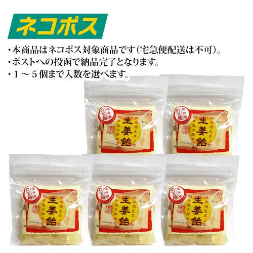 【ネコポス専用・WEB特価】保命酒入り生姜飴80g (1~5個まで選択可能)